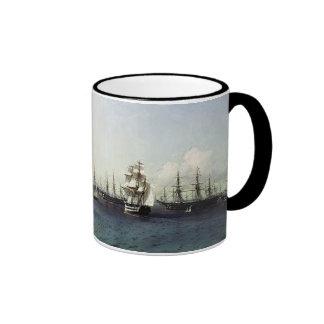 Black Sea Fleet in the Bay of Theodosia Ringer Coffee Mug