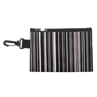 Black, Sea Fog Purple, White Barcode Stripe Accessories Bags