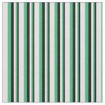 [ Thumbnail: Black, Sea Green & Lavender Colored Pattern Fabric ]