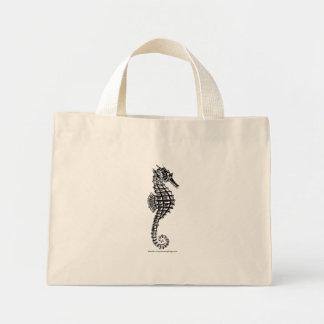 Black SEA HORSE Tote Bag