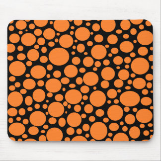 Black Sea of Orange Bubbles Mousepad