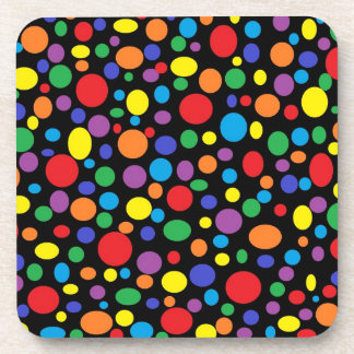Black Sea of Rainbow Bubbles Coasters