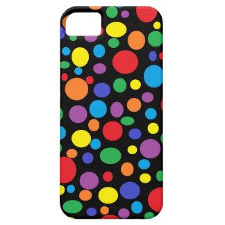 Black Sea of Rainbow Bubbles iPhone Case