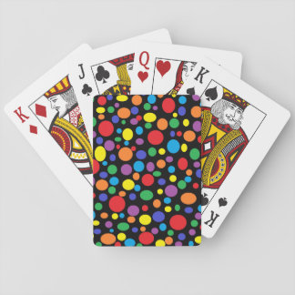 Black Sea of Rainbow Bubbles Playing Cards