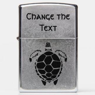 Black Sea Tortoise Shell Zippo Lighter
