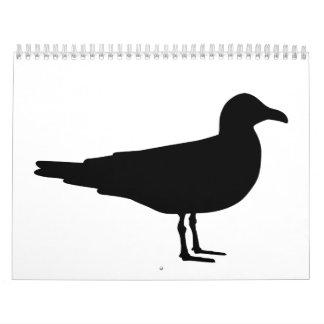 Black seagull calendar