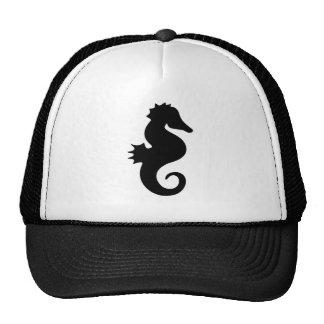 Black Seahorse Silhouette Trucker Hat