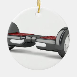 Black self balancing scooter ceramic ornament