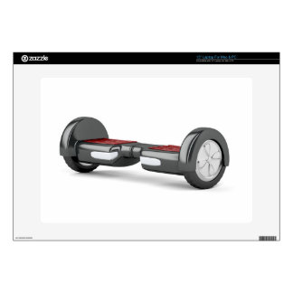 Black self balancing scooter decal for laptop