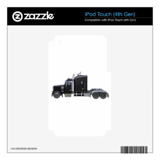 Black Semi Tractor Trailer in Side Profile iPod Touch 4G Skin