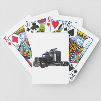 Black Semi Tractor Trailer Truck Bicycle Playing Cards