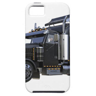 Black Semi Tractor Trailer Truck iPhone SE/5/5s Case