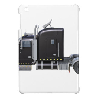 Black Semi Truck with Full Lights In Side View Cover For The iPad Mini