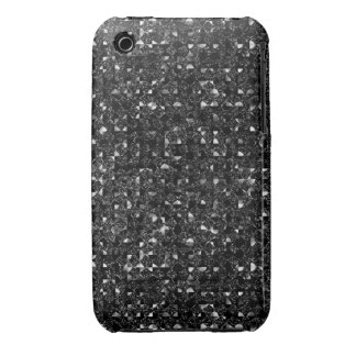 Black Sequin Effect Phone Cases iPhone 3 Cover