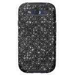 Black Sequin Effect Phone Cases Galaxy SIII Cases