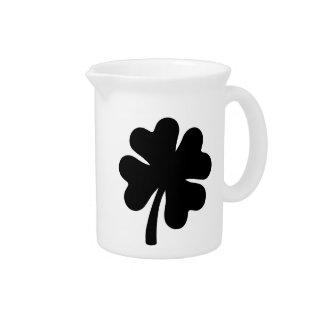 Black shamrock beverage pitcher
