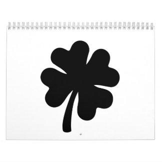 Black shamrock calendar