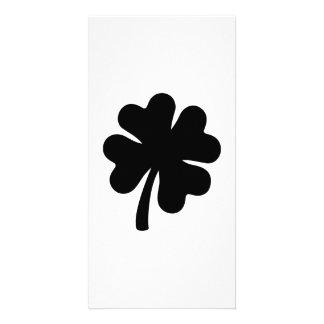 Black shamrock card