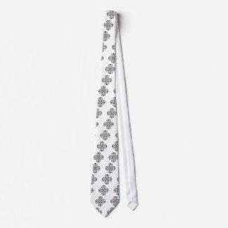 black shamrock celtic knot neck tie