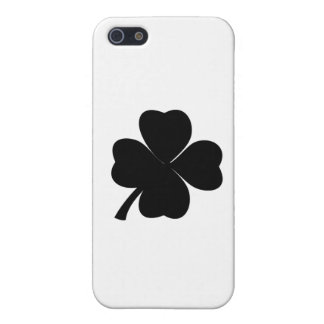 Black Shamrock Lucky Irish Four Leaf Clover iPhone SE/5/5s Case