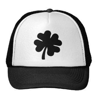 Black shamrock trucker hat
