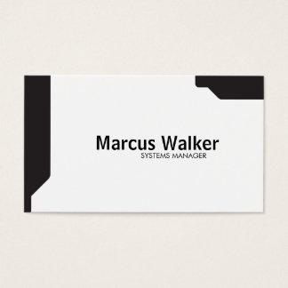 Black Shapes Business Card