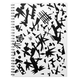 Black Shapes Notebook