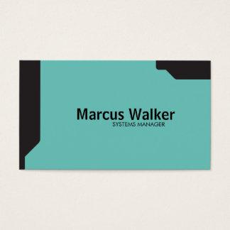 Black Shapes Teal Business Card