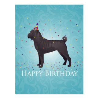 Black Shar Pei Birthday Design Postcard