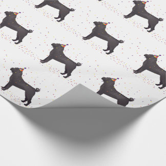Black Shar Pei Birthday Design Wrapping Paper