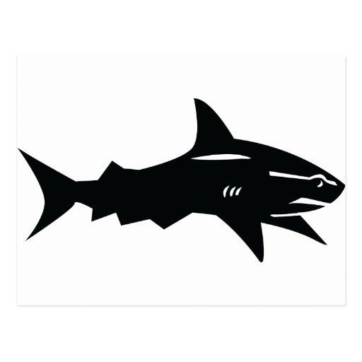 black shark post cards