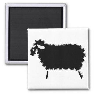 Black Sheep 2 Inch Square Magnet
