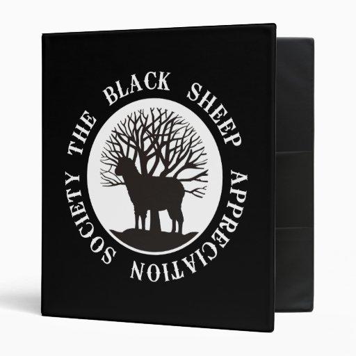 Black Sheep Appreciation Society 3 Ring Binder