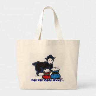 Black sheep, Baa baa black sheep... Large Tote Bag