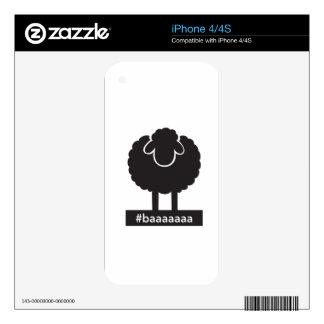 Black Sheep #baaaaa iPhone 4S Skins