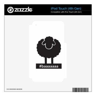Black Sheep #baaaaa iPod Touch 4G Skins