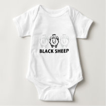 black sheep baby bodysuit