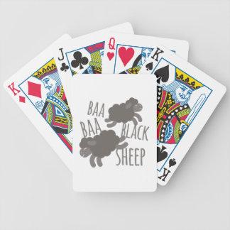 Black Sheep Bicycle Playing Cards