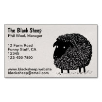 Black Sheep Business Card Magnet
