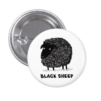 Black Sheep 1 Inch Round Button