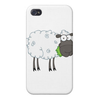 Black Sheep Cartoon Character Case For iPhone 4