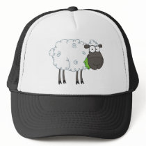 Black Sheep Cartoon Character Trucker Hat