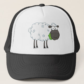 Black Sheep Cartoon Character Trucker Hat