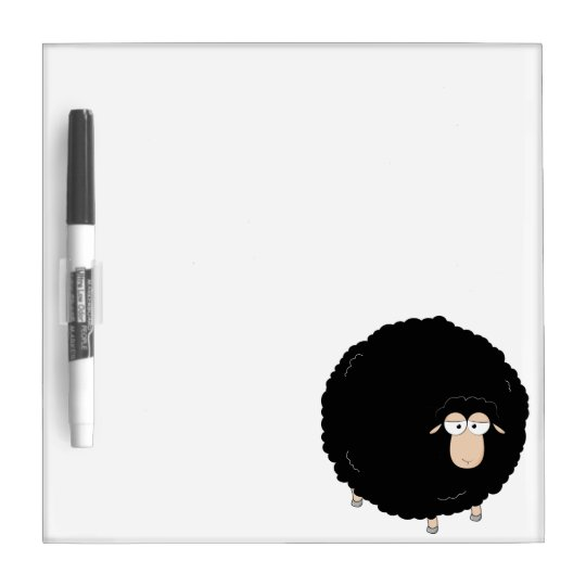 Black sheep cartoon illustration Dry-Erase board