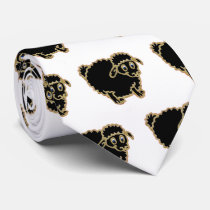 Black Sheep cartoon. Neck Tie