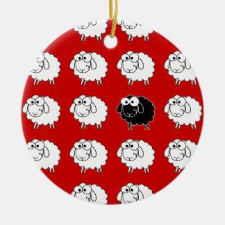 Black Sheep Ceramic Ornament