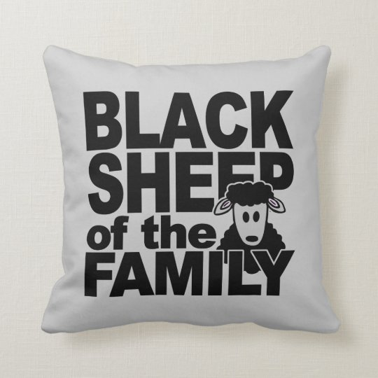 Black Sheep custom throw pillow