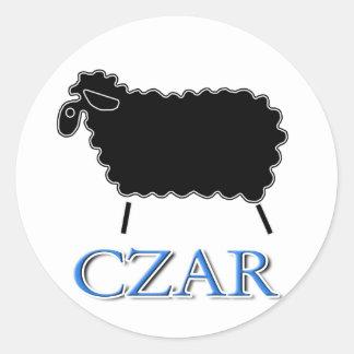 Black Sheep Czar Classic Round Sticker