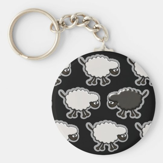 Black Sheep Design Keychain