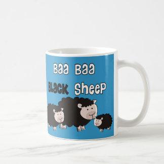 "Black Sheep Designs ""Baa Baa Black Sheep"" Coffee Mugs"